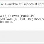 Cómo reparar el error BSOD 0x7 INVALID_SOFTWARE_INTERRUPT